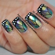 butterfly wings nail art - alldaychic