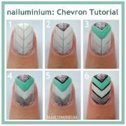 special nail art tutorial chevron