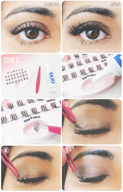 do you put on fake eyelashes before or after makeup ...