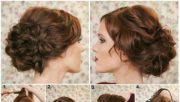 elegant and easy updo hairstyle
