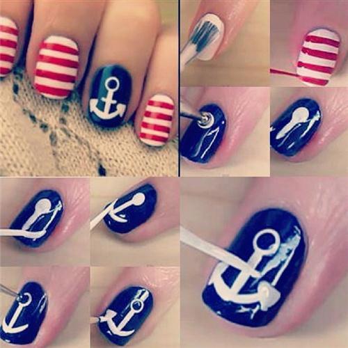 Cute Nautical Nail Art Designs