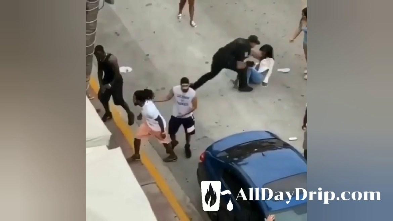 Police Brutally Beat A Girl On Spring Break