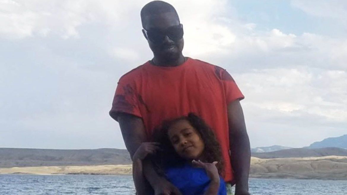 KANYE WEST IS FINALLY SPENDING TIME WITH HIS KIDS