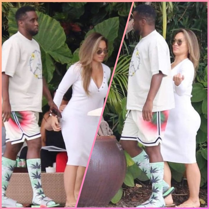 DIDDY SEEN HOLDING HANDS WITH 50 CENT'S BABYMAMA!