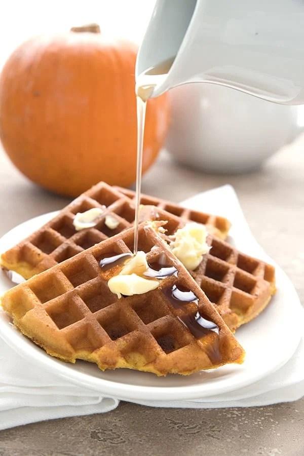 Keto Pumpkin Protein Waffles