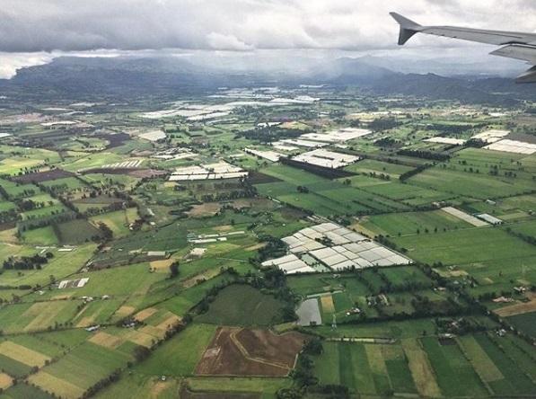 Landing in Bogotá.