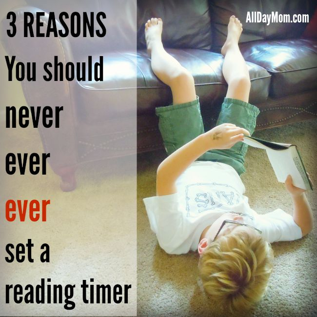 3 Reasons You Should Never Set a Reading Timer for Your Kids