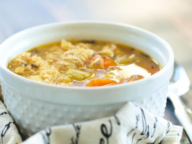 gluten free new baby meal happyhealthymama chicken quinoa soup