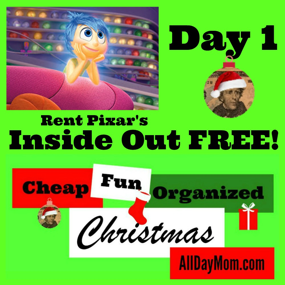 Rent Inside Out Free! Cheap Christmas Fun Day 1