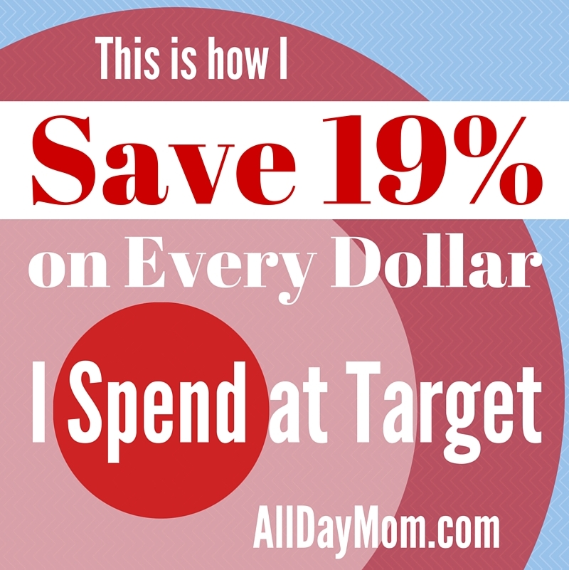How I save 19% on every dollar I spend at Target! Save money at Target with these tips!