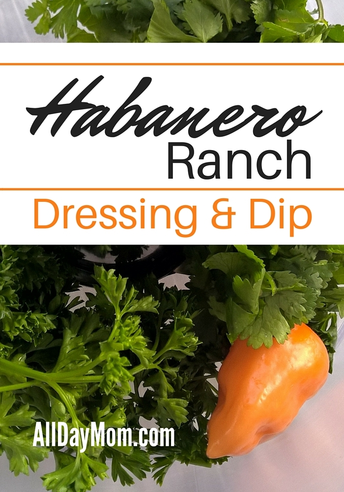 Get the printable recipe for this Habanero Ranch Dressing at All Day Mom! How to upgrade to organic without busting your grocery budget!