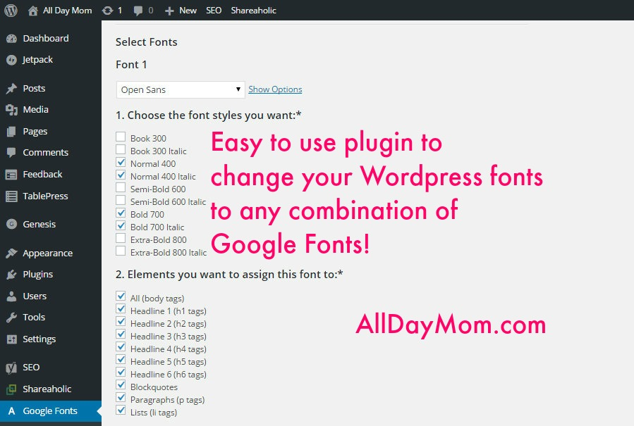 How to Change the Font on Your Blog in WordPress