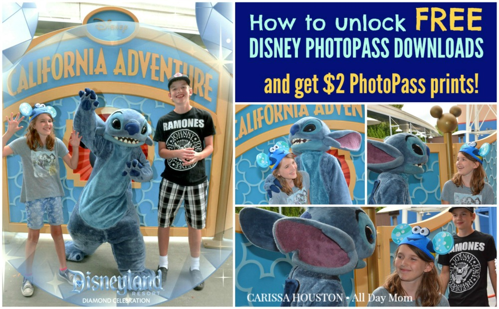 Disneyland freebies Free Disney PhotoPass downloads with Disney Visa! Disney Character Meet & Greet at Disneyland with Stitch!