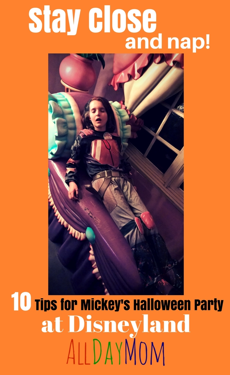Make the Most of Your Disneyland Day: Stay Close and Nap! 10 Disneyland Tips for Mickeys Halloween Party