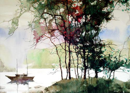 Цветные паутинки осени. Пейзажная техника художника Z. L. Feng