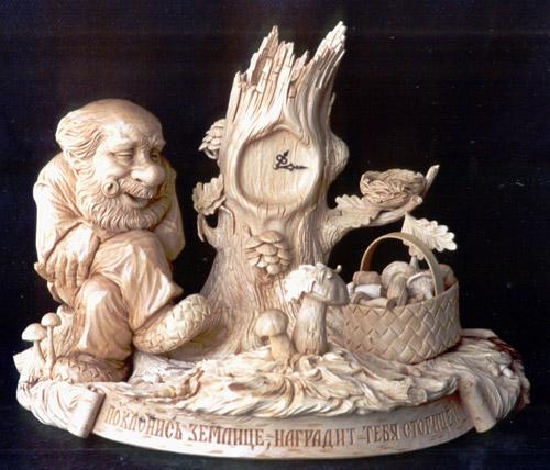 Деревянные часы с русской душой от Юрия Фирсанова
