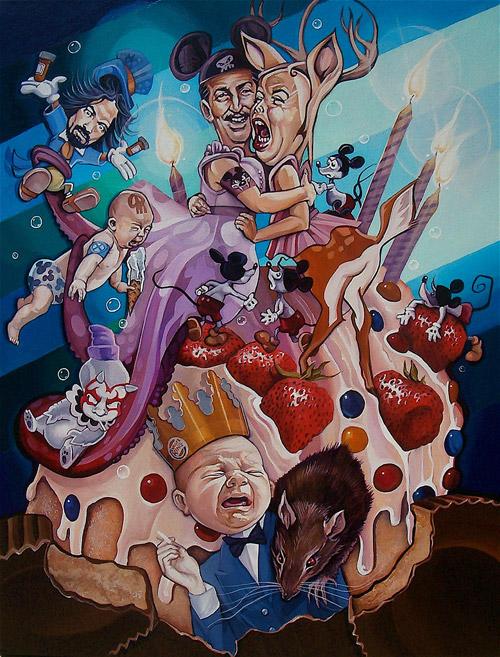 Кошмарики  американской культуры. Сатирические картины Дэвида МакДауэлла