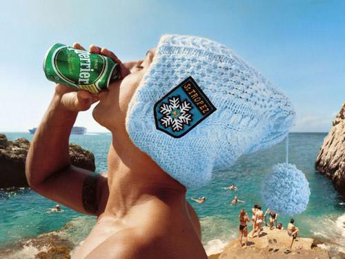 Юмор,  утоляющий жажду. Отличная реклама воды «Perrier» от фотографа Vincent  Dixon