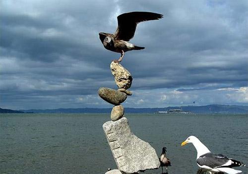 Балансировка камней. Искусство поиска центра тяжести