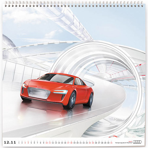 Российский календарь Audi - 2011. Автомобильный ретрофутур на новый год