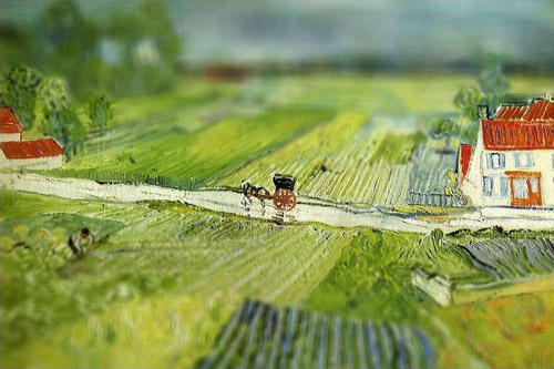 Винсент Ван Гог в технике Tilt-Shift