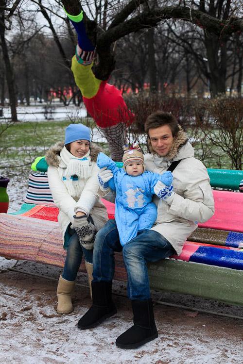 Вязаный фестиваль в Парке Горького. Утепляем все вокруг!