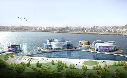 Vista, Viva, Terra - плавучие острова в Сеуле
