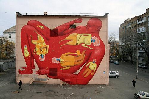 Граффити-дуэт «Interesni Kazki». Художественная роспись стен
