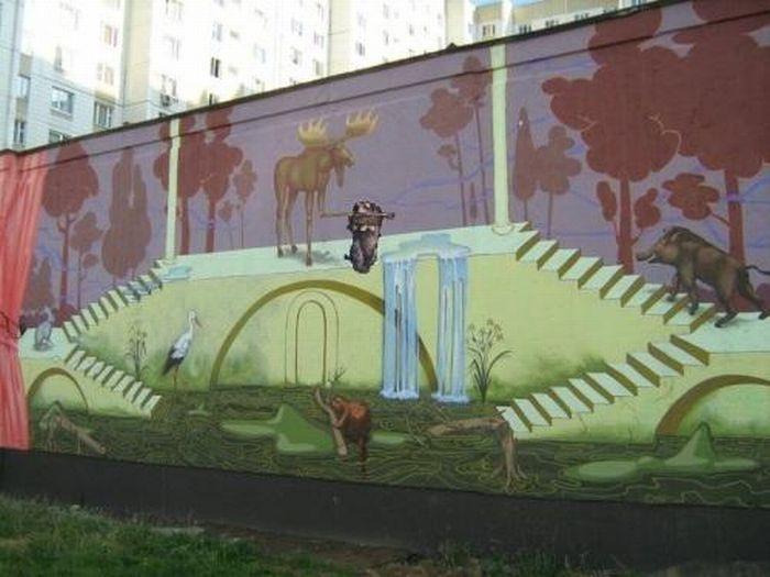 Граффити руками российских стенописателей. 74 снимка.
