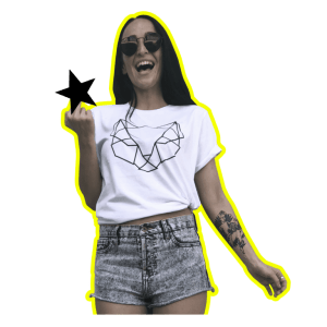 Kirju white cat t-shirt