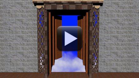 opening doors animated heavens background wedding