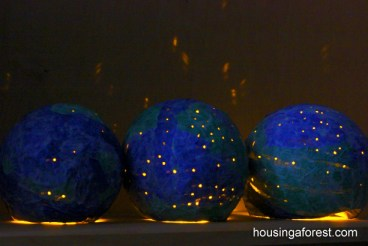 Housing a Forest - Paper Mache Globes