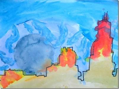 Mama Smiles - Chicago Skyline Art for Kids