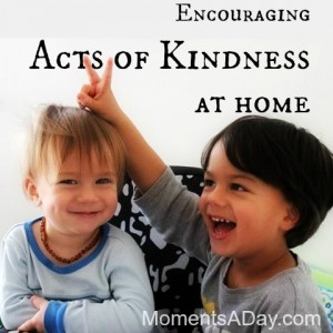 Teaching Kindness: Moments a Day {Random Acts of Kindness}