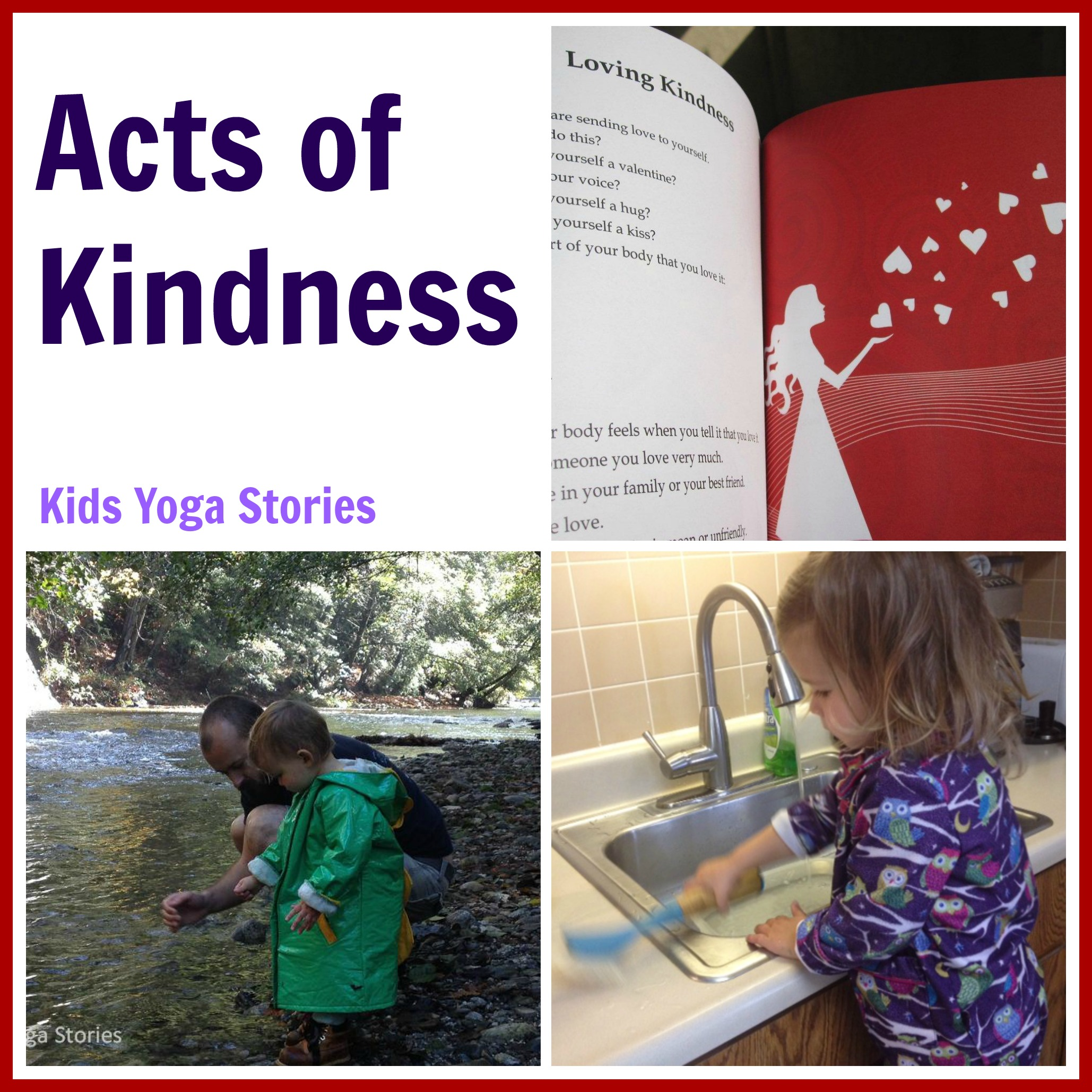 Acts of Kindness through our Thoughts, Words, and Actions: Kids Yoga Stories {Random Acts of Kindness}