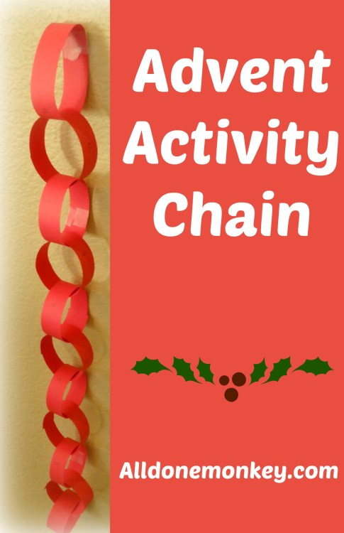 Advent Calendar: Activity Chain - Alldonemonkey.com