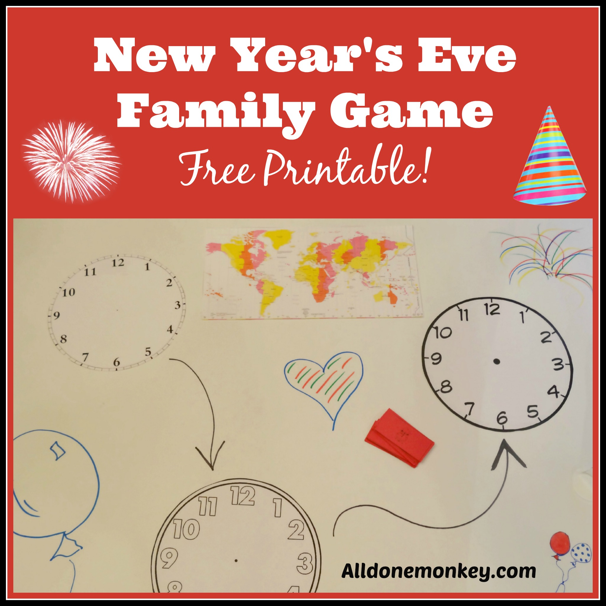 graphic relating to Printable Family Games known as Refreshing Decades Eve Spouse and children Video game: Free of charge Printable! - All Performed Monkey