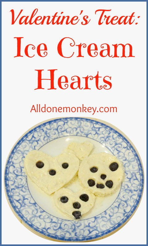Valentine's Treat Ice Cream Hearts