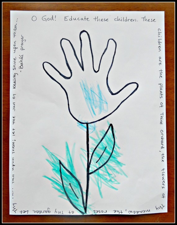 Spring Flower Hand Print Craft - Alldonemonkey.com