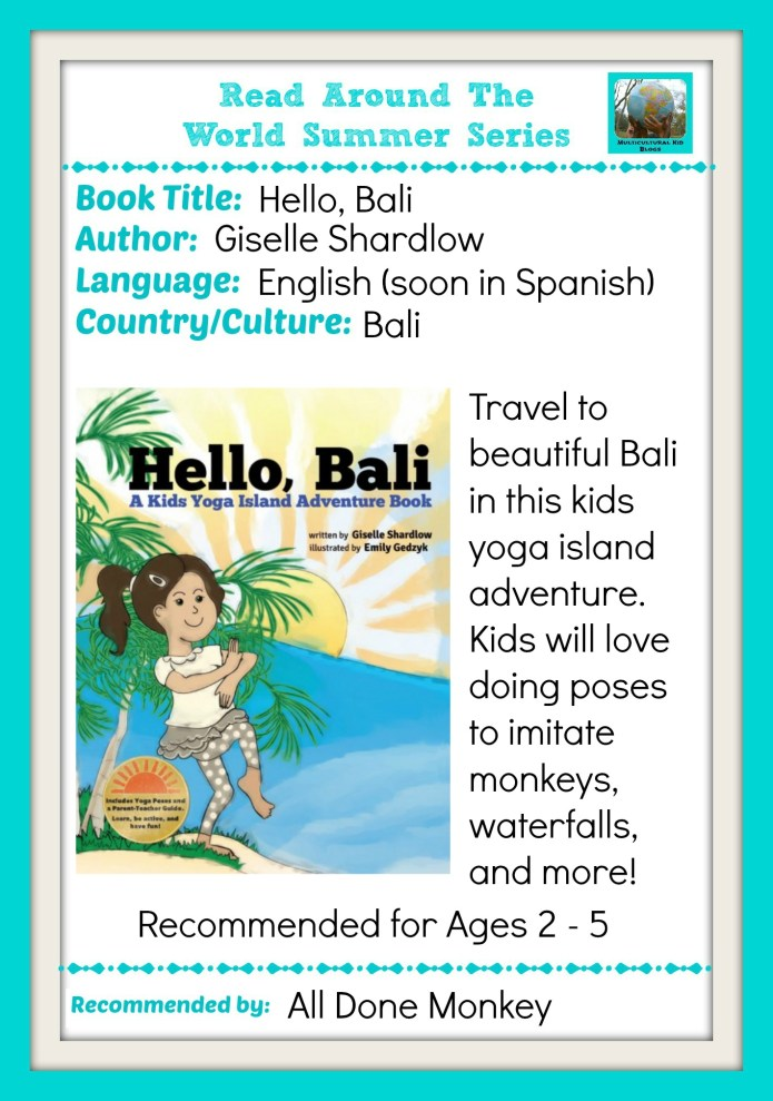 Learn About Bali with a Kids Yoga Island Adventure Book | Alldonemonkey.com - Part of the Multicultural Kid Blogs Read Around the World Summer Reading Series