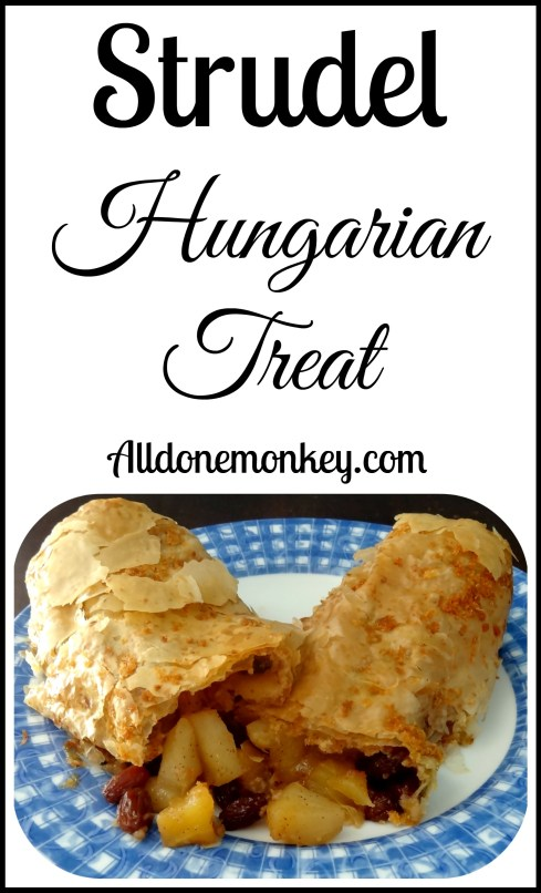 Strudel: Hungarian Treat {Around the World in 12 Dishes} | Alldonemonkey.com