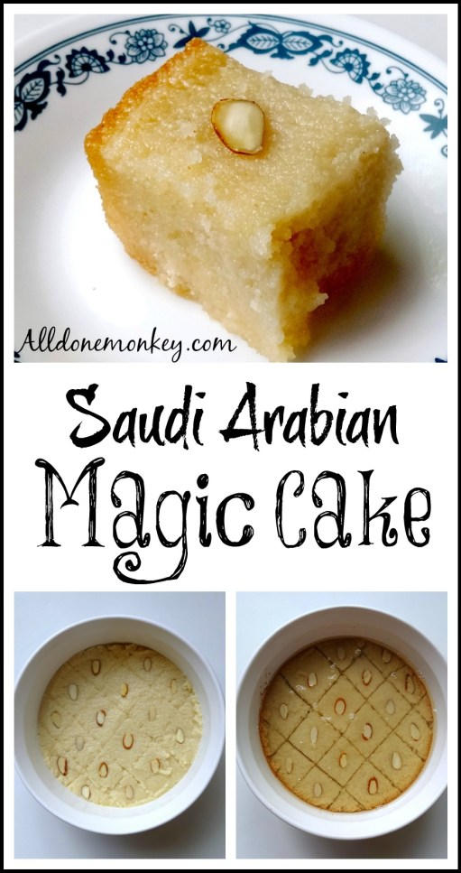 Saudi Arabian Magic Cake {Around the World in 12 Dishes} | Alldonemonkey.com
