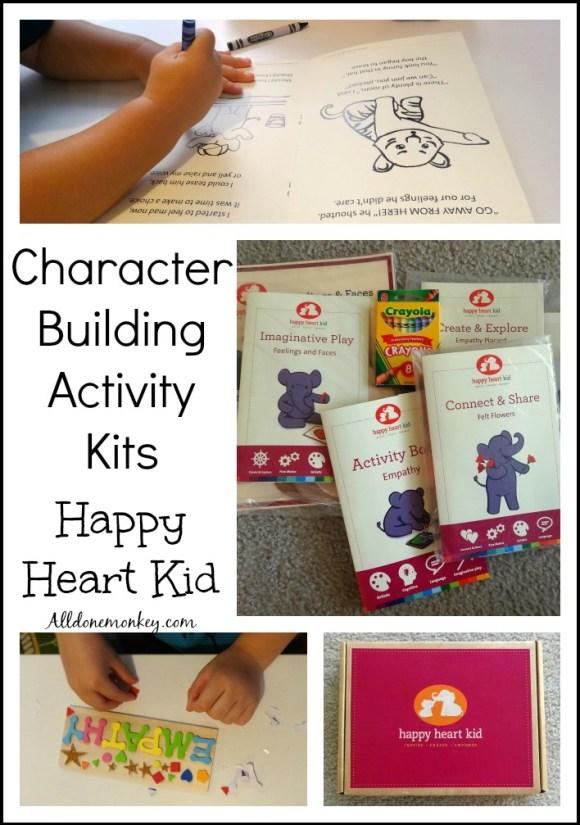 Character Building Activity Kits: Happy Heart Kid | Alldonemonkey.com