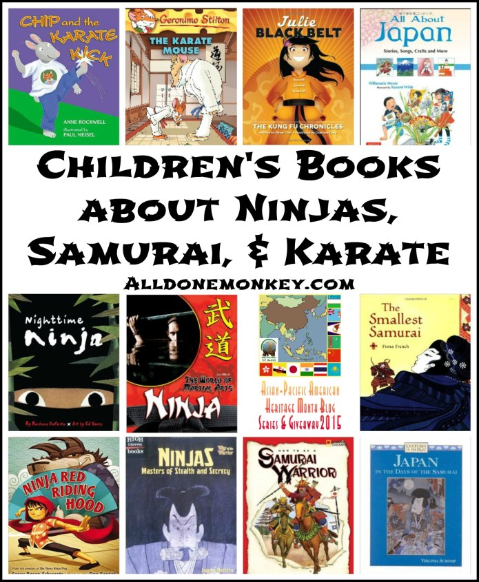 Children's Books about Ninjas, Samurai, and Karate | Alldonemonkey.com