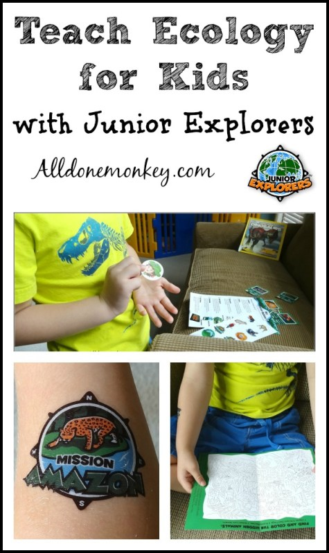 Teach Ecology for Kids with Junior Explorers | Alldonemonkey.com