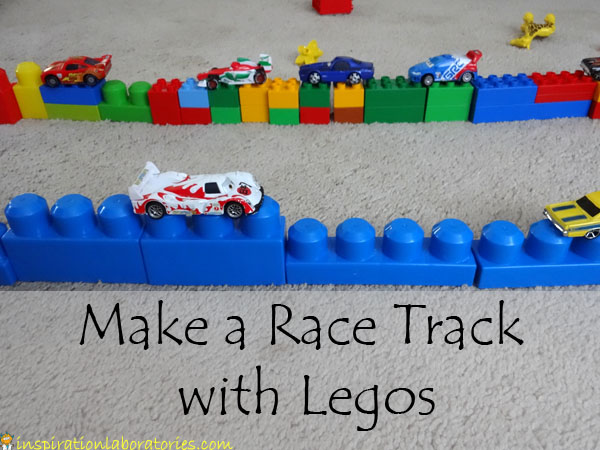 Make a Race Track with Legos - Inspiration Laboratories