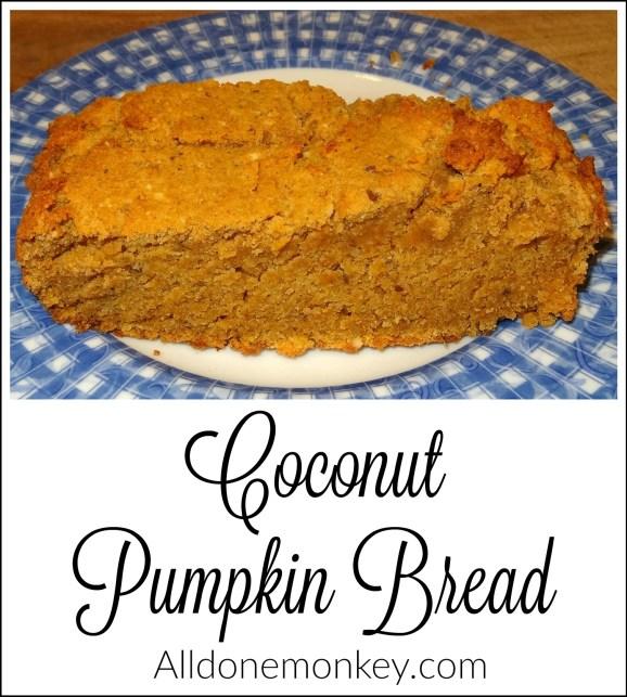 Coconut Pumpkin Bread | Alldonemonkey.com