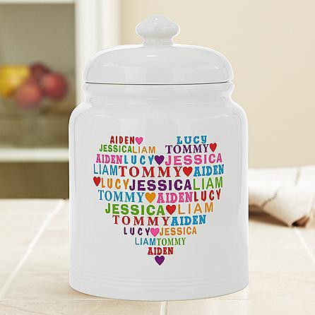 Heart Full of Love Cookie Jar