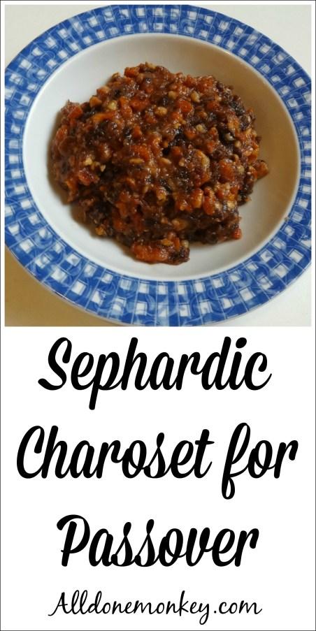 Sephardic Charoset Recipe | Alldonemonkey.com