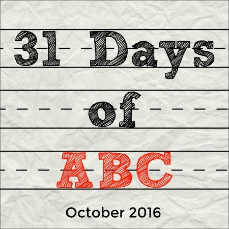 31 Days of ABC - October 2016 | Alldonemonkey.com